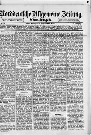 Norddeutsche allgemeine Zeitung vom 11.02.1884