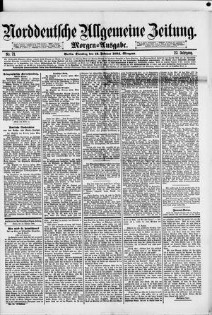 Norddeutsche allgemeine Zeitung vom 12.02.1884