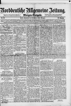 Norddeutsche allgemeine Zeitung vom 16.02.1884