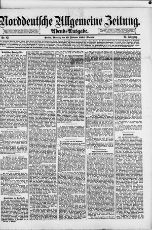 Norddeutsche allgemeine Zeitung vom 18.02.1884