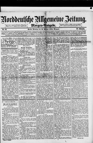 Norddeutsche allgemeine Zeitung vom 19.02.1884