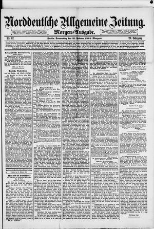 Norddeutsche allgemeine Zeitung vom 21.02.1884