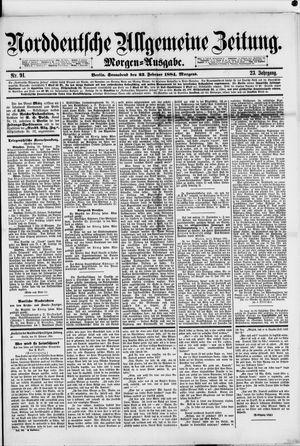 Norddeutsche allgemeine Zeitung vom 23.02.1884