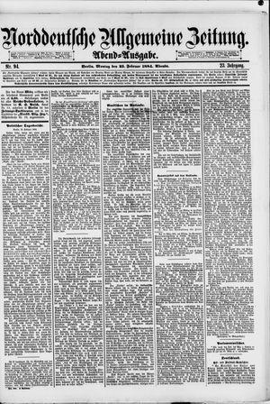 Norddeutsche allgemeine Zeitung vom 25.02.1884
