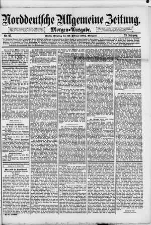 Norddeutsche allgemeine Zeitung vom 26.02.1884
