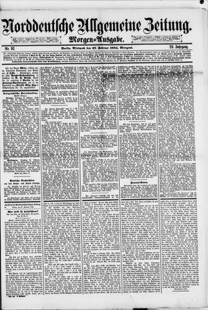 Norddeutsche allgemeine Zeitung vom 27.02.1884