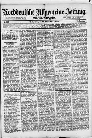 Norddeutsche allgemeine Zeitung vom 29.02.1884