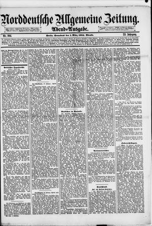Norddeutsche allgemeine Zeitung vom 01.03.1884