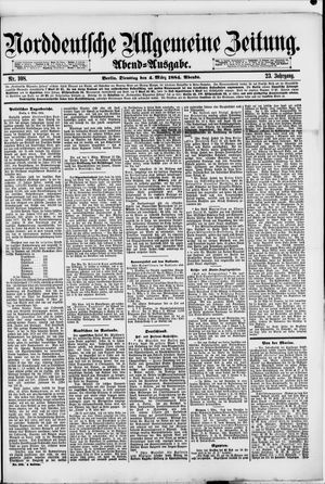 Norddeutsche allgemeine Zeitung vom 04.03.1884