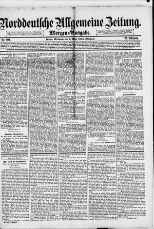 Norddeutsche allgemeine Zeitung vom 05.03.1884
