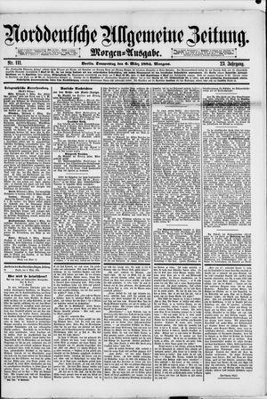 Norddeutsche allgemeine Zeitung vom 06.03.1884