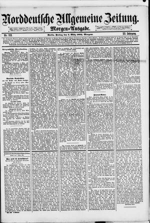 Norddeutsche allgemeine Zeitung vom 07.03.1884