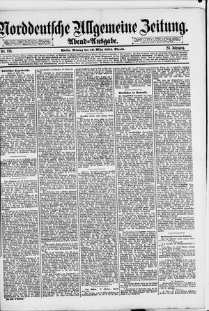 Norddeutsche allgemeine Zeitung vom 10.03.1884