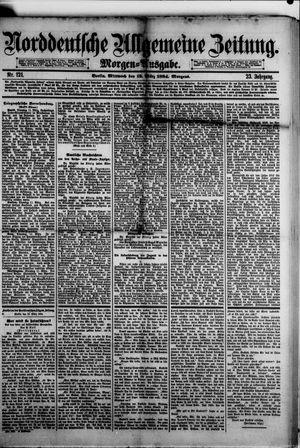 Norddeutsche allgemeine Zeitung vom 12.03.1884