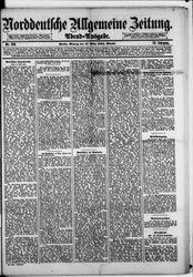 Norddeutsche allgemeine Zeitung (17.03.1884)