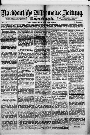 Norddeutsche allgemeine Zeitung vom 18.03.1884