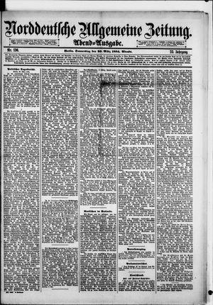 Norddeutsche allgemeine Zeitung vom 20.03.1884