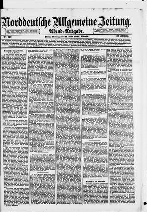 Norddeutsche allgemeine Zeitung vom 24.03.1884