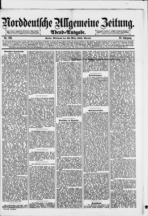 Norddeutsche allgemeine Zeitung on Mar 26, 1884