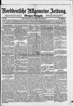 Norddeutsche allgemeine Zeitung vom 27.03.1884