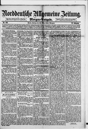 Norddeutsche allgemeine Zeitung vom 28.03.1884