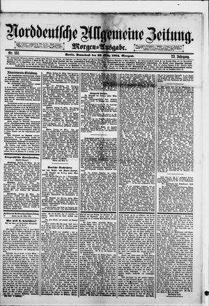 Norddeutsche allgemeine Zeitung vom 29.03.1884