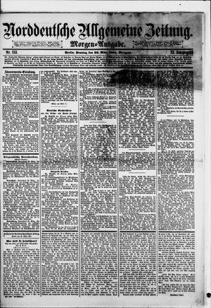 Norddeutsche allgemeine Zeitung vom 30.03.1884