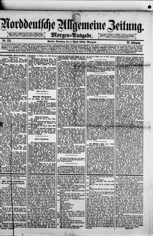 Norddeutsche allgemeine Zeitung vom 01.04.1884