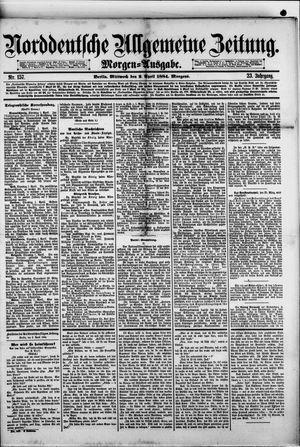 Norddeutsche allgemeine Zeitung vom 02.04.1884