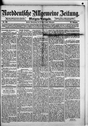 Norddeutsche allgemeine Zeitung vom 03.04.1884