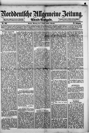 Norddeutsche allgemeine Zeitung vom 07.04.1884
