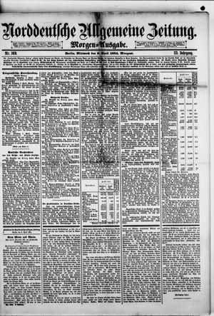 Norddeutsche allgemeine Zeitung vom 09.04.1884