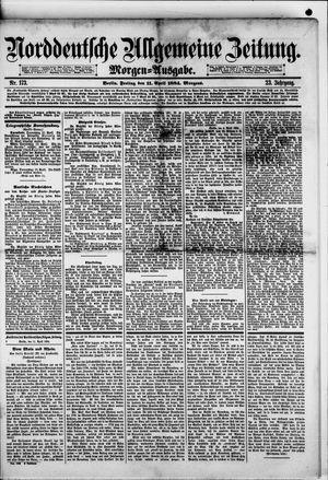 Norddeutsche allgemeine Zeitung vom 11.04.1884