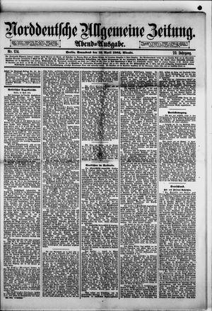 Norddeutsche allgemeine Zeitung vom 12.04.1884