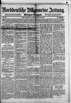 Norddeutsche allgemeine Zeitung on Apr 16, 1884