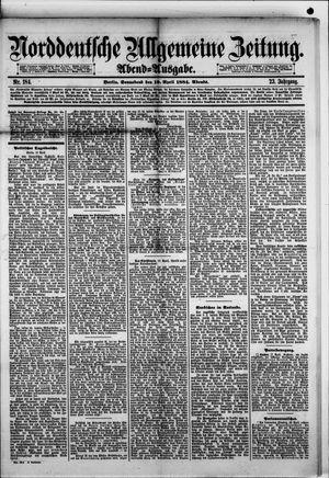 Norddeutsche allgemeine Zeitung vom 19.04.1884