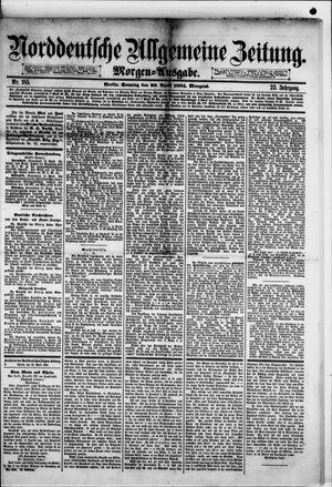 Norddeutsche allgemeine Zeitung vom 20.04.1884