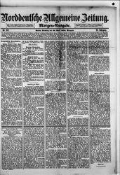 Norddeutsche allgemeine Zeitung (22.04.1884)