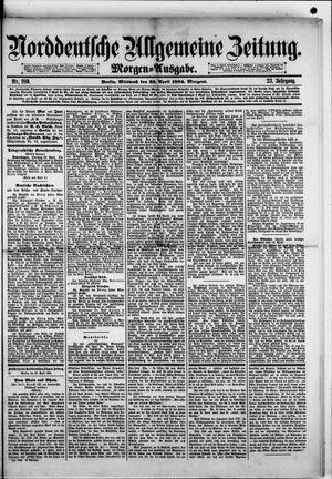 Norddeutsche allgemeine Zeitung vom 23.04.1884