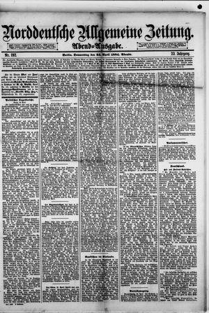Norddeutsche allgemeine Zeitung vom 24.04.1884
