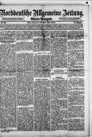 Norddeutsche allgemeine Zeitung vom 28.04.1884