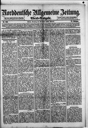 Norddeutsche allgemeine Zeitung vom 29.04.1884