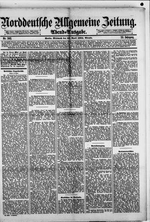 Norddeutsche allgemeine Zeitung vom 30.04.1884