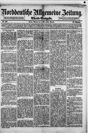 Norddeutsche allgemeine Zeitung vom 05.05.1884