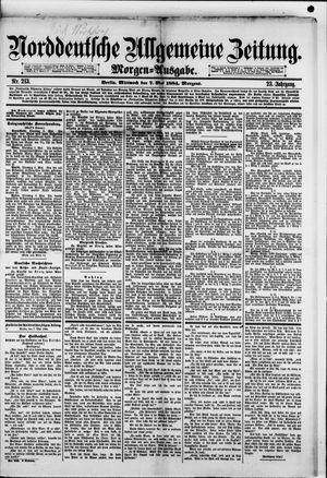 Norddeutsche allgemeine Zeitung vom 07.05.1884