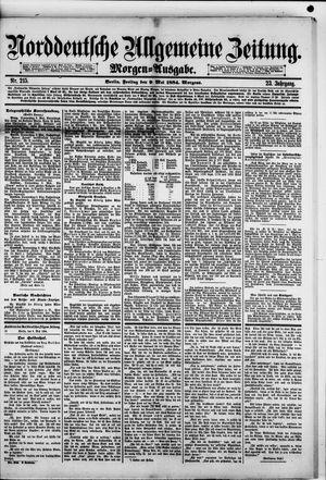 Norddeutsche allgemeine Zeitung vom 09.05.1884