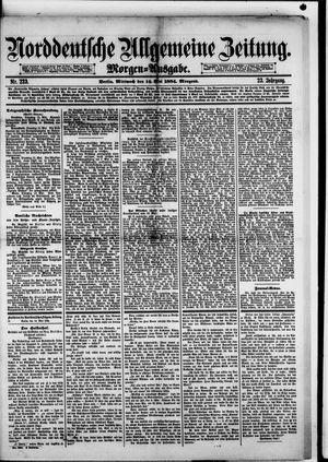 Norddeutsche allgemeine Zeitung vom 14.05.1884