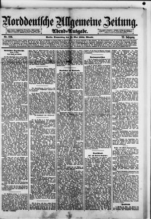 Norddeutsche allgemeine Zeitung vom 15.05.1884