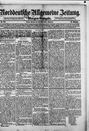 Norddeutsche allgemeine Zeitung vom 16.05.1884