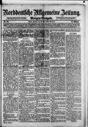 Norddeutsche allgemeine Zeitung on May 18, 1884